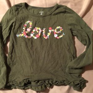 Toddler girls size 4T love shirt